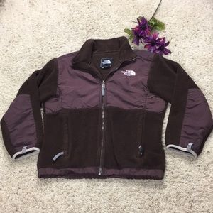 THE NORTH FACE Girls M Brown Fleece Jacket